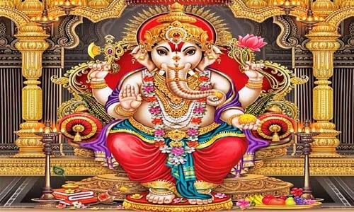 भगवान गणेश जी  की आरती हिंदी और इंग्लिश मे {2020}