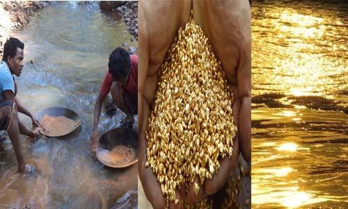 भारत की एक एसी नदी जहाँ बहता है सोना