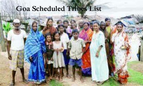 गोवा की अनुसूचित जनजातियां