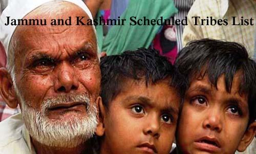 जम्मू और कश्मीर की अनुसूचित जनजातियां