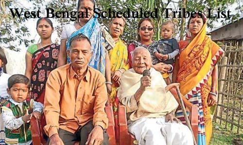 वेस्ट बंगाल की अनुसूचित जनजातियां