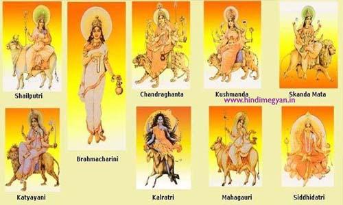 माँ दुर्गा के नौ रूप