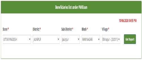 Beneficiaries list under PMKisan